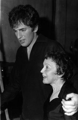 edith Piaf y su compañero